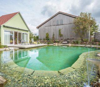 Schwimmteich am Haus