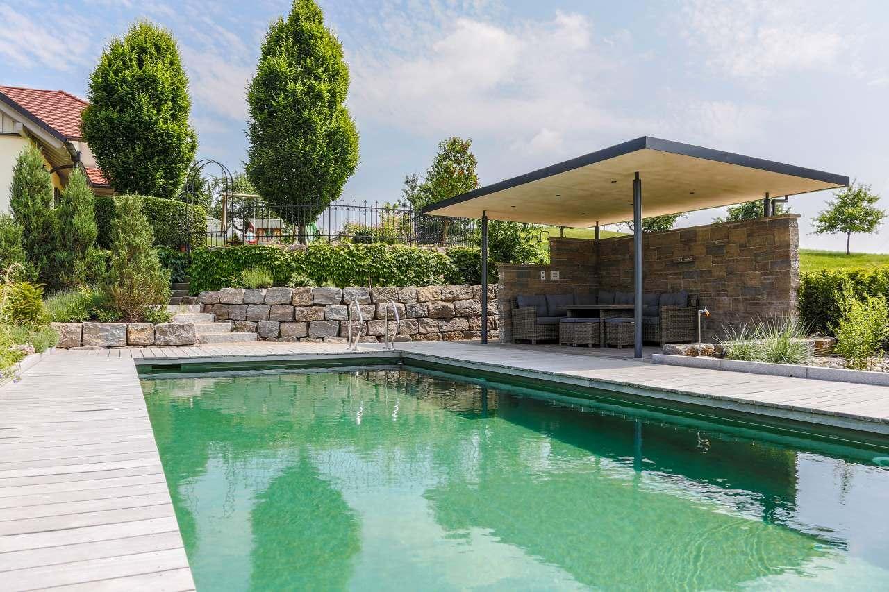 Moderne pergola gestaltung ohne pflanzen galanet blog - Gestaltung rund um den pool ...