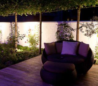 Beleuchtung der Gartenmauer