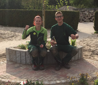 Alexandra Merzan und Christian Leemhuis von Kreye Garten- und Landschaftsbau