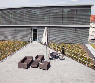 Lounge und Dachbegrünung