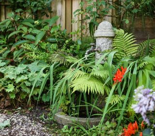 Cottage Garten mit Brunnen